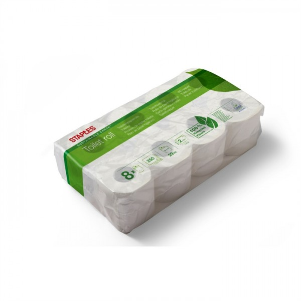 Standardrolle Toilettenpapier Sustainable Earth™ 2-lagig, 400 Blatt 6 x 8 Rollen