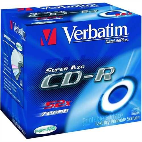Verbatim CD-R, Jewelcase, einmalbeschreibbar, 700 MB, 80 min, 52 x (10 Stück)