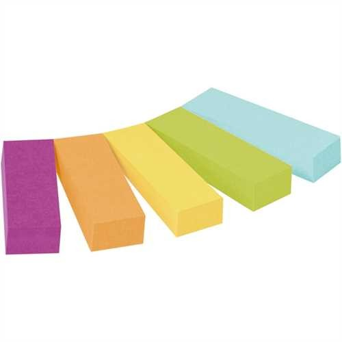 Post-it Haftnotiz Page Marker, 12,7 x 44,4 mm, 5farbig sortiert, 50 Blatt (5 Blocks)
