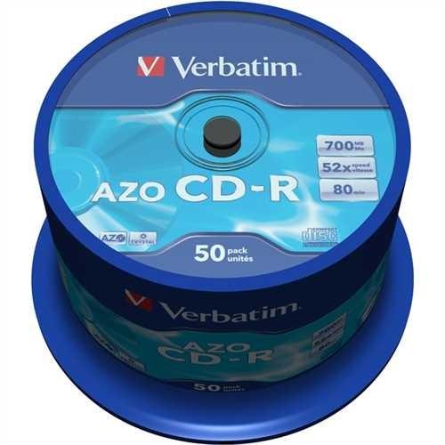 Verbatim CD-R, Spindel, einmalbeschreibbar, 700 MB, 80 min, 52 x (50 Stück)