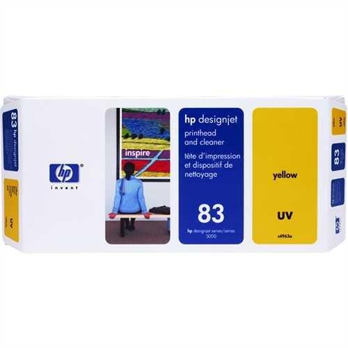 HP Druckkopf 83, C4963A, original, UV, gelb