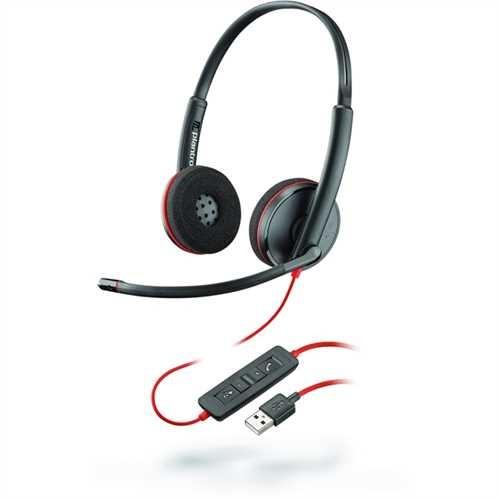 PLANTRONICS Headset, Blackwire C3220, Kopfbügel, Stereo, USB A, 118 g, schwarz