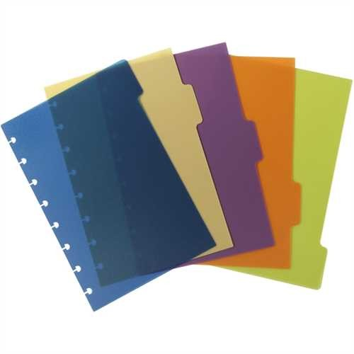 M BY STAPLES Register arc, PP, blanko, Speziallochung, A5, 5 Blatt, 5farbig (1 Stück)