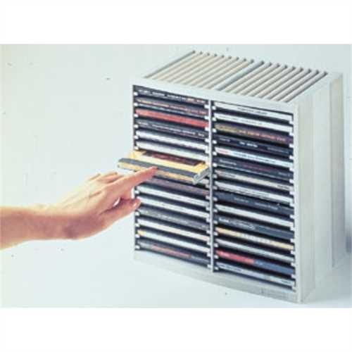 Fellowes CD-Ablage Spring, 265 x 165 x 260 mm, für: 48 CDs, platingrau