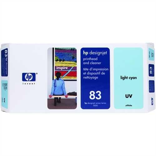 HP Druckkopf 83, C4964A, original, UV, hellcyan